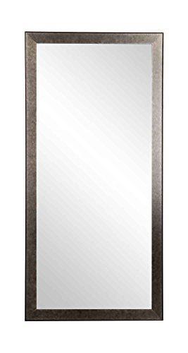 Worn Gunmetal Floor Mirror