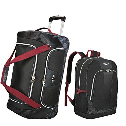 Bret Michaels Classic Road 2-piece Rolling Duffel and Laptop Backpack Travel Set