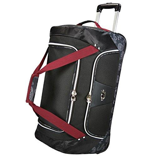 Bret Michaels Classic Road 24-inch Rolling Duffel Bag