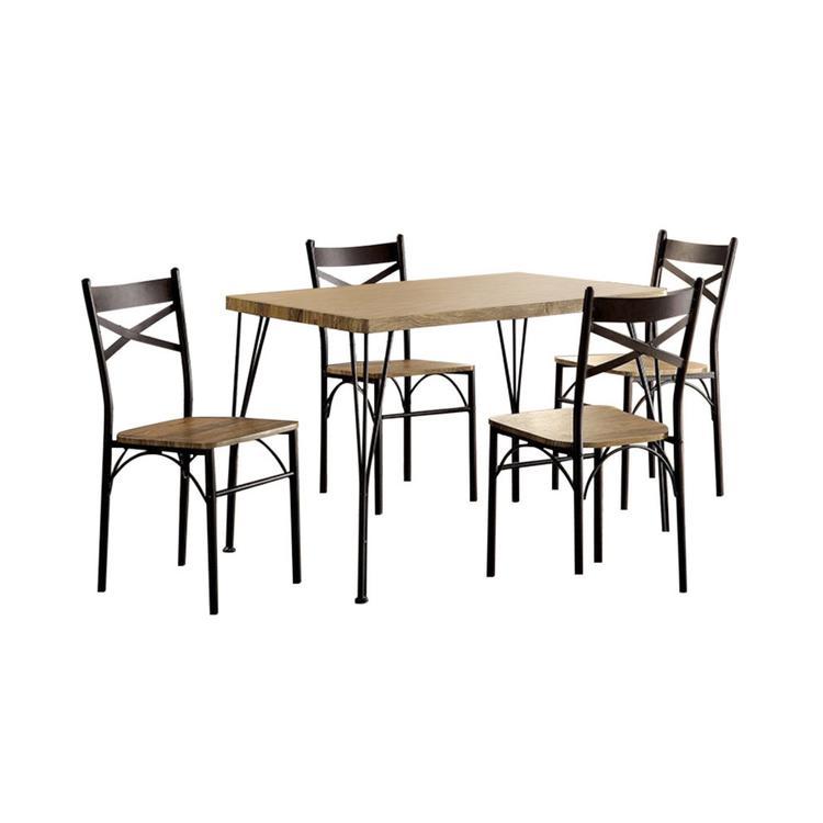 Benzara Industrial 5 Pc. Dining Table Set