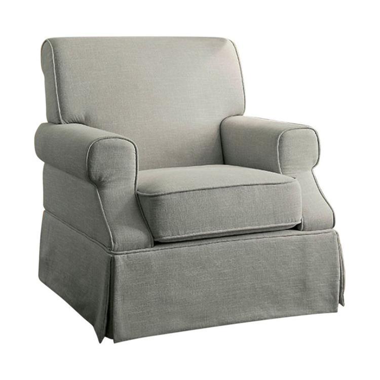 Benzara Leela Transitional Swivel Glider And Rocker Chair