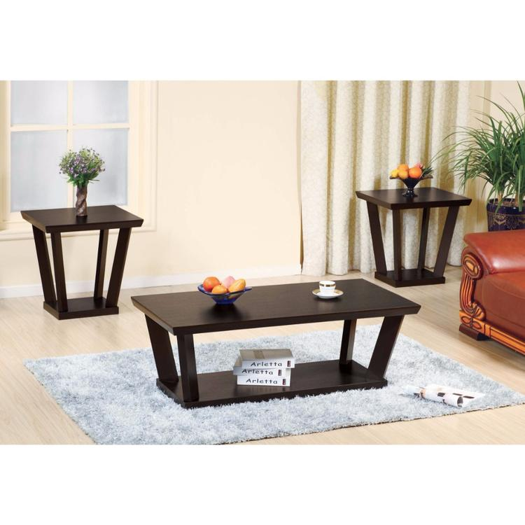 Benzara Contemporary Style Coffee & End Table - Set of 3