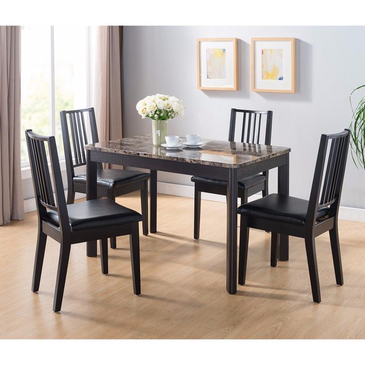 Benzara Faux Marble Top Splendid Dining Table