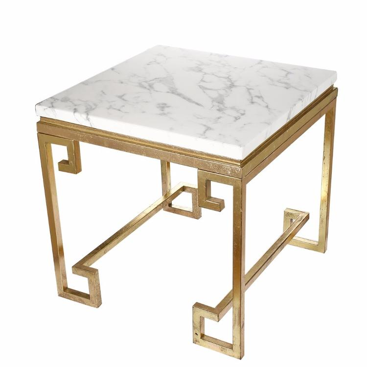 Benzara Vintage Phoenician Nights Marble End Table