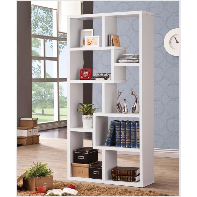 Benzara Mesmerizing Multiple Cubed Rectangular Bookcase