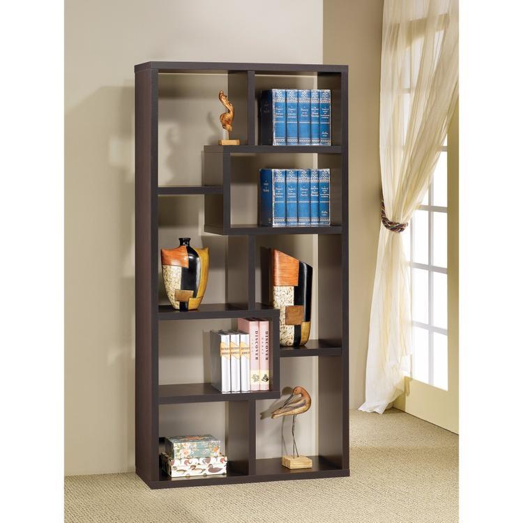 Benzara Contemporary Asymmetrical Cube Bookcase