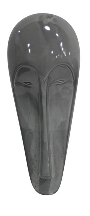 Benzara Phenomenal decorative Ceramic Mask,  Gray