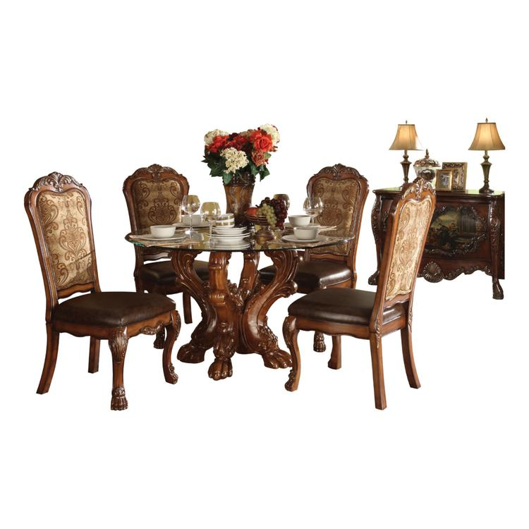 Benzara Imperial Dining Table with Pedestal (Chairs Not Included)