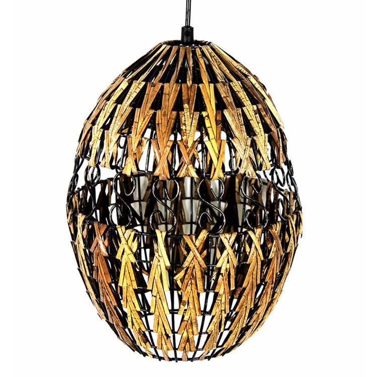 Benzara Decorative Rattan Hanging Lantern