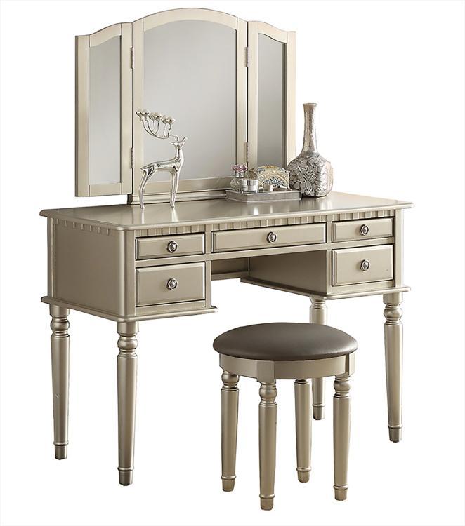 Benzara Commodious Vanity Set Featuring Stool And Mirror [Item # BM167180]