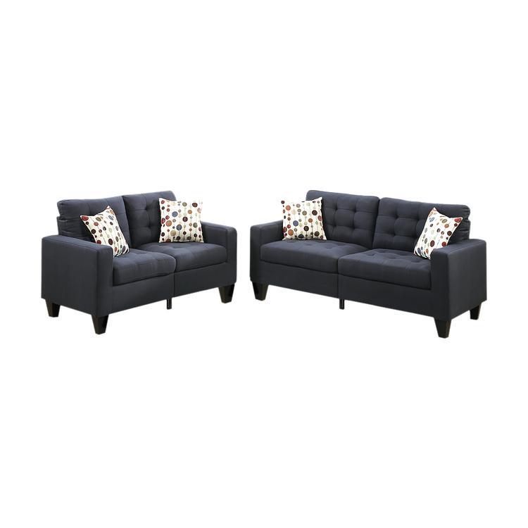 Benzara Linen Fabric 2 Pieces Sofa Set