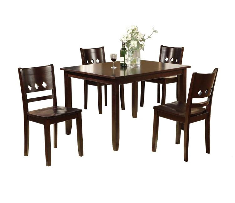 Benzara Wooden Dining Table And Chairs 5 Piece Dining Set [Item # BM171278]