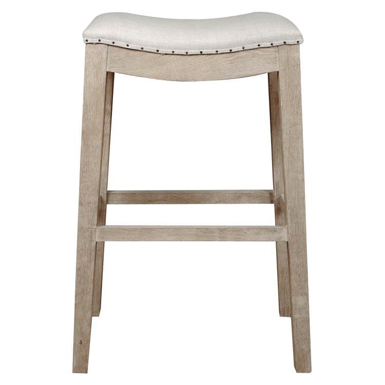 Benzara Upholstered Barstool, Stone Wash Brown [Item # BM174233]