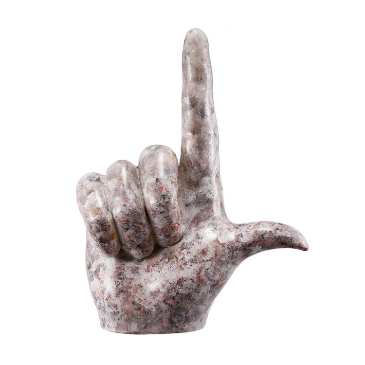 Benzara L Shape Hand Accent In Resin