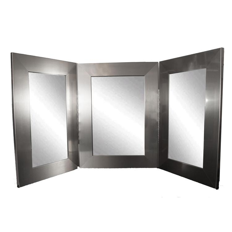 Modern Style Makeup Vanity Tri-Fold Mirror