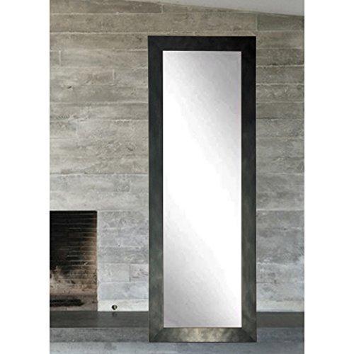 Clouded Gunmetal Full Length Dressing Leaning Floor Vanity Wall Mirror