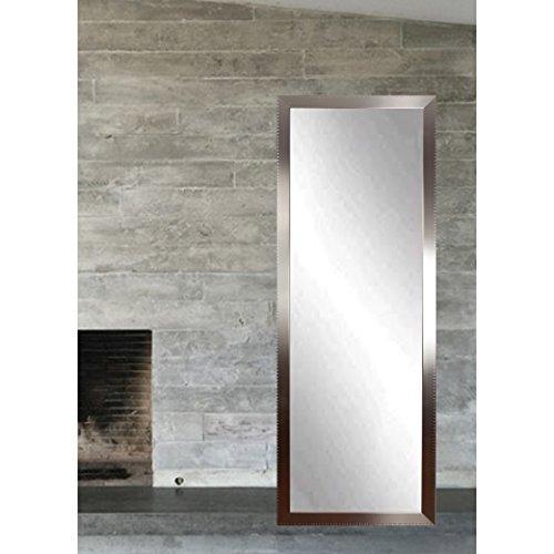 Embossed Steel Full Length Dressing Leaning Floor Vanity Wall Mirror