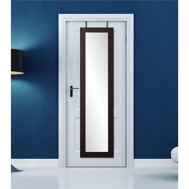 Matte Black Over the Door Full Length Dressing Mirror