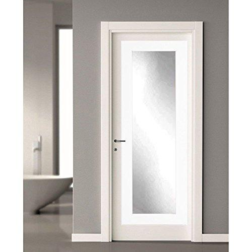 Matte White Over the Door Full Length Dressing Mirror