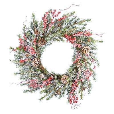 Snow Pine & Berry Wreath