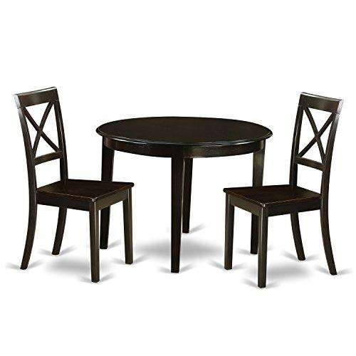 Small Kitchen Table Set-Round Table And 2 Dining Chairs