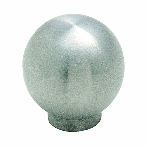 Essential'Z Stainless Steel 1-3/16 in (30 mm) Diameter Stainless Steel Cabinet Knob