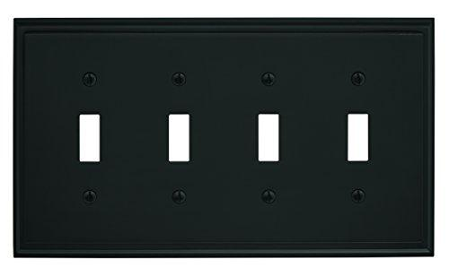 Mulholland 4 Toggle  Wall Plate