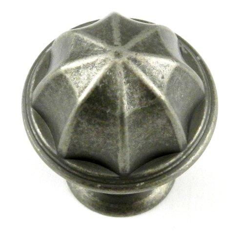 Eydon 1 in (25 mm) Diameter Weathered Nickel Cabinet Knob