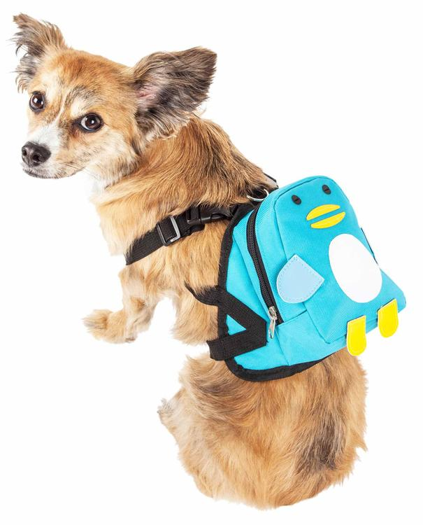 Pet Life ® 'Waggler Hobbler' Large-Pocketed Compartmental Animated Dog Harness Backpack [Item # BP7BLMD]