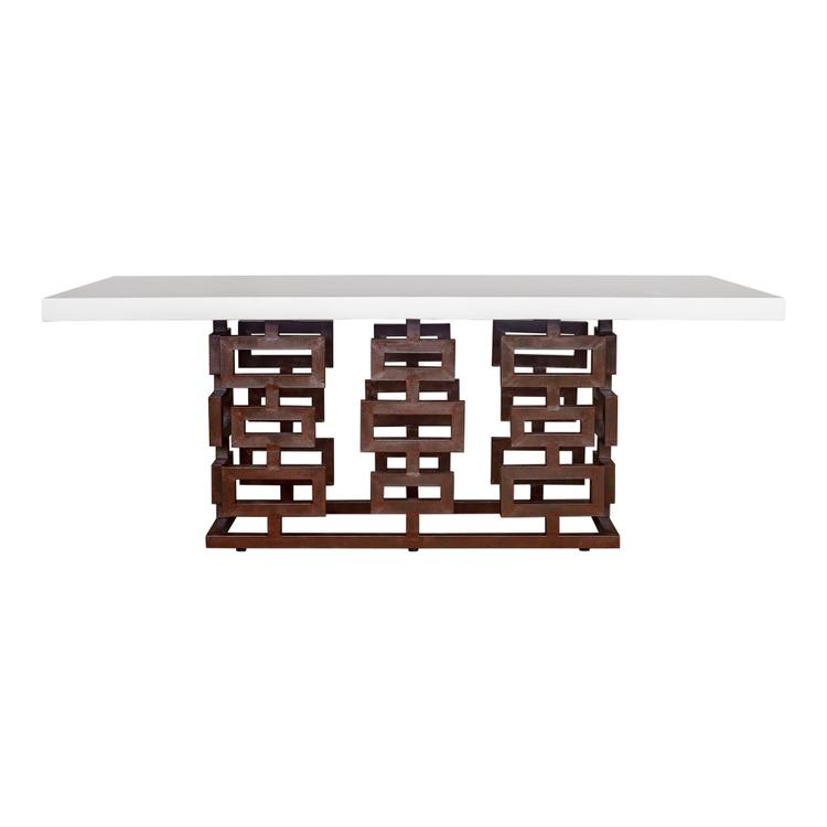 Armen Living Ivey Outdoor Dining Table Medium