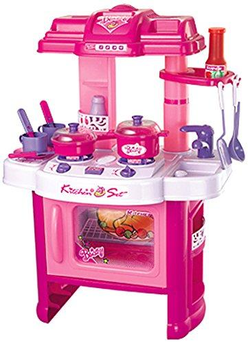 Fun Cooking Plastic Play Kitchen - Pink