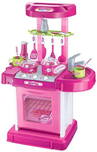 Play & Carry Plastic Play Kitchen - Pink