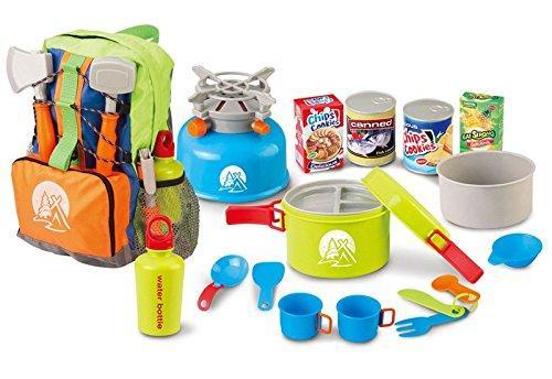 Little Explorer Camping Backpack Cooker 13-Piece Play Set