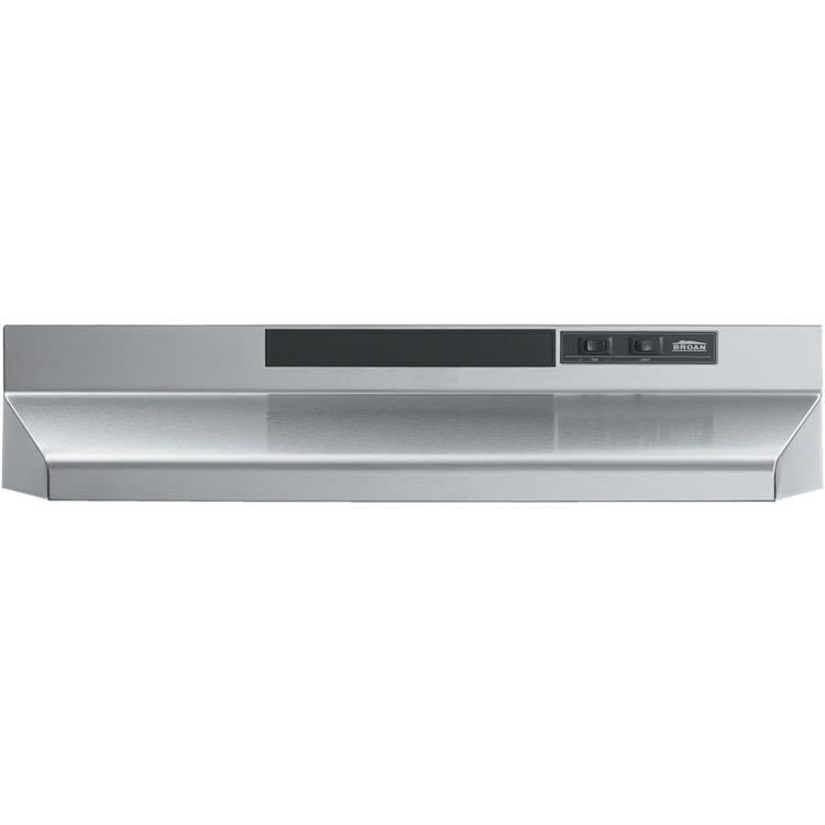 Broan 42 In. Two-Speed 4-Way Convertible Under Cabinet Range Hood - Black