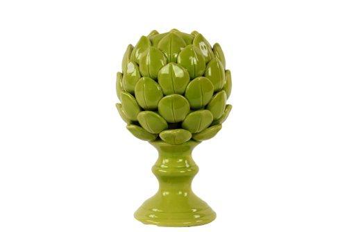 Home Decor Porcelain Artichoke Replica In Green Small
