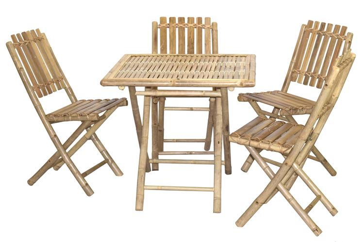 4 Armless Chair And Square Table Set