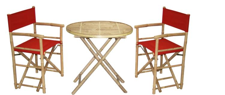 2 Director's Chair And Round Table Set