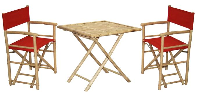 2 Director's Chair And Square Table Set