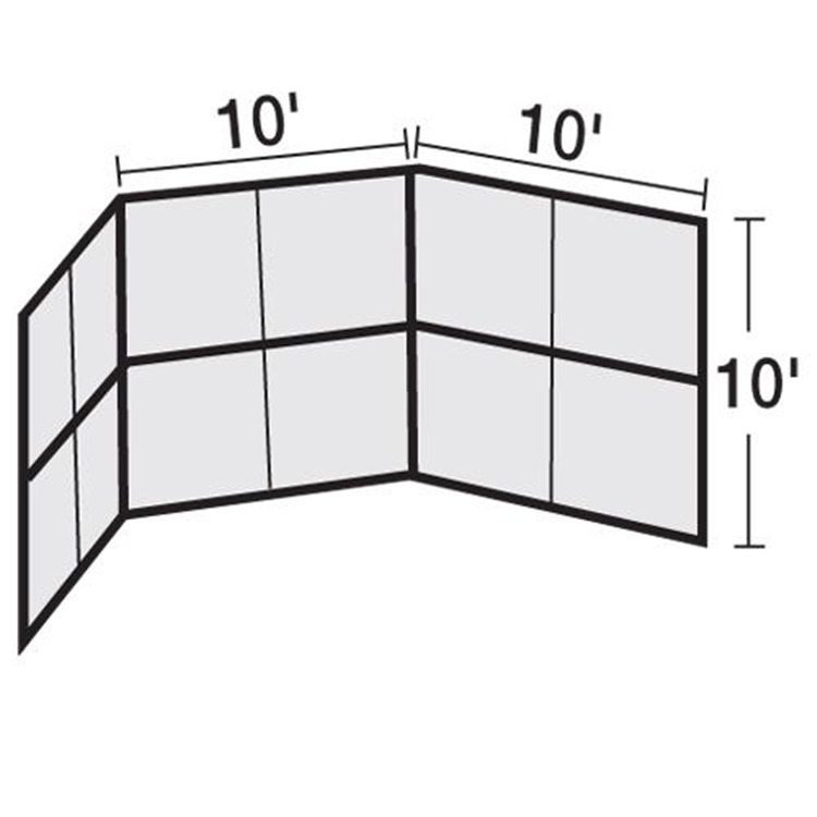BSN Sports Chain Link Backstop-10' W/hood-No Wings [Item # BSCL10H]
