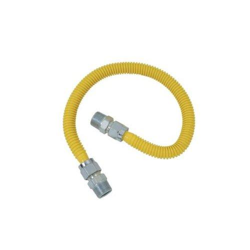 ProCoat 1/2 in. MIP x 1/2 in. MIP x 24 in. Stainless Steel Gas Connector 1/2 in. O.D. (85,000 BTU)