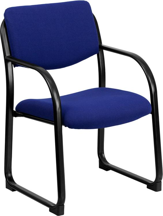 Fabric Executive Side Reception Chair With Sled Base