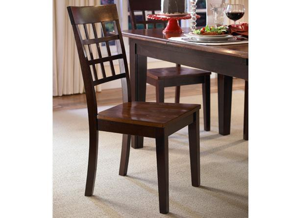 A-America Bristol Point Lattice Back Side Chair - Finish:Warm Grey,Quantity:Single,Set of 2 [Item # ]