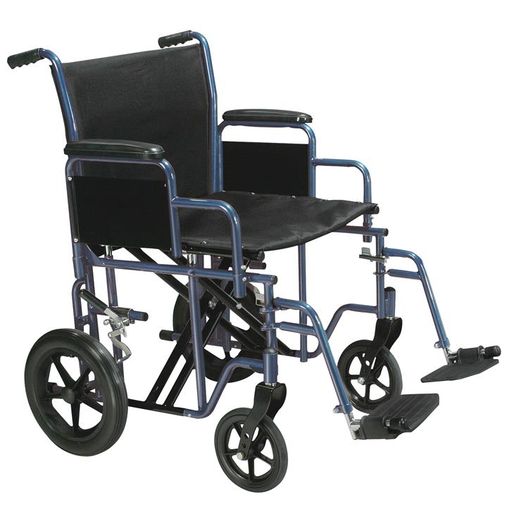 Drive Medical Bariatric Heavy Duty Transport Wheelchair with Swing Away Footrest
