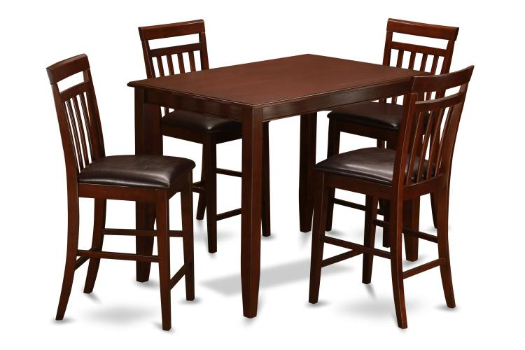 Pub Table Set-Counter Height Table And Kitchen Chairs