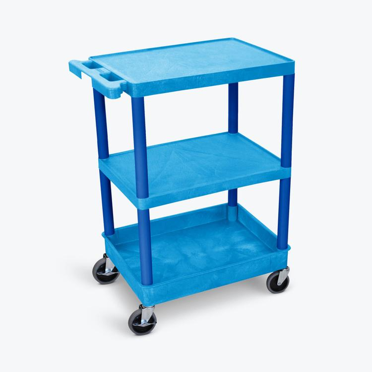 Luxor Flat Top/Middle and Tub Bottom Shelf Cart
