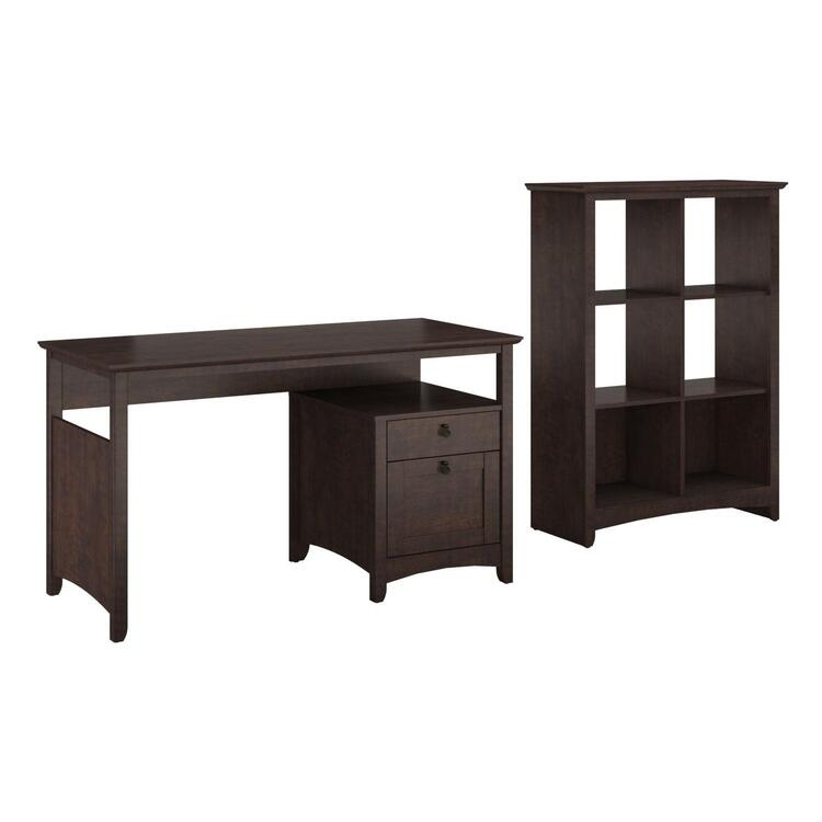 Single Pedestal Desk & 6 Cube Storage