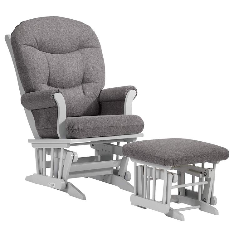 Dutailier Sleigh Glider And Ottoman [Item # C00-61A-40-3128]