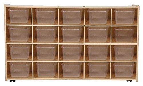 Contender Mobile 20 Tray Storage with Translucent Trays - Assembled with Casters