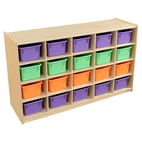 Contender 20 Tray Storage with Assorted Pastel Trays - RTA