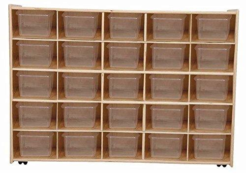 Contender Mobile 25 Tray Storage with Translucent Trays - Assembled with Casters